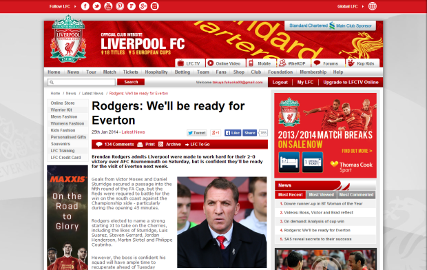 140126_Rodgers  We ll be ready for Everton   Liverpool FC