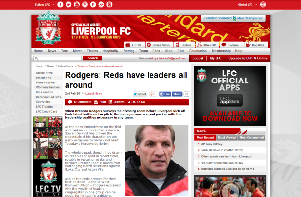 140202_Rodgers  Reds have leaders all around   Liverpool FC