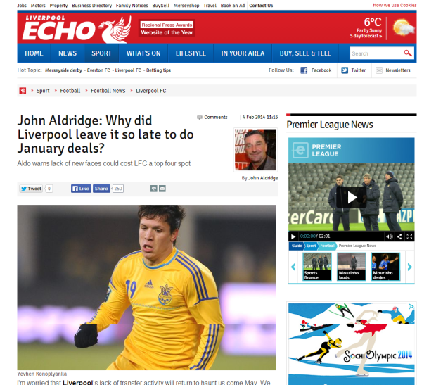140204_John Aldridge  Why did Liverpool FC leave it so late to do January deals    John Aldridge   Liverpool Echo