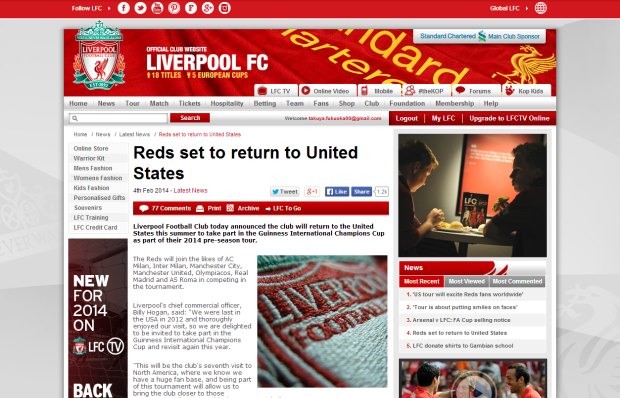 140205_Reds set to return to United States   Liverpool FC