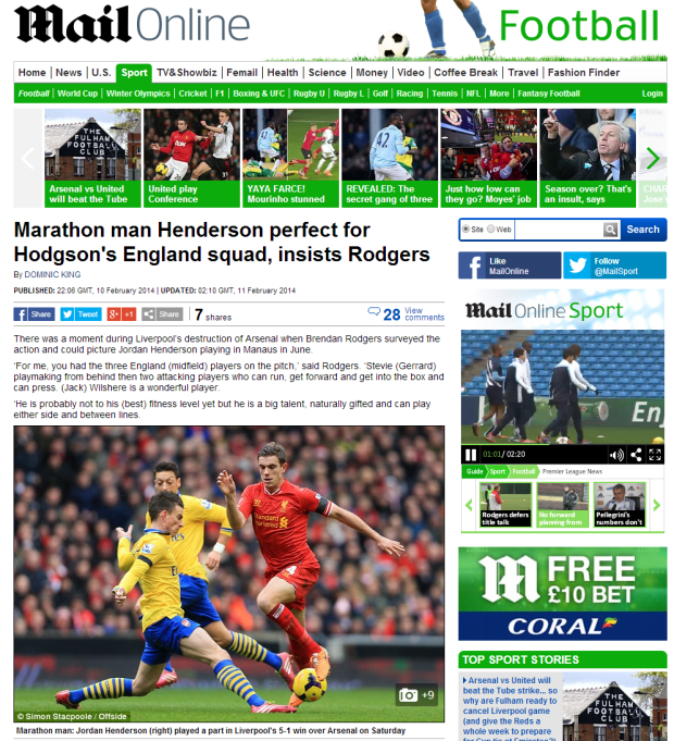 140211_Marathon man Jordan Henderson perfect for Roy Hodgson s England squad  insists Brendan Rodgers   Mail Online