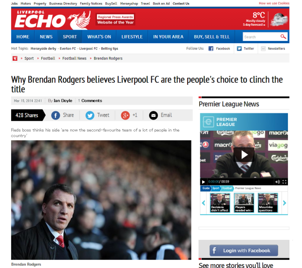 140316_Why Brendan Rodgers believes Liverpool FC are the people s choice to clinch the title   Liverpool Echo