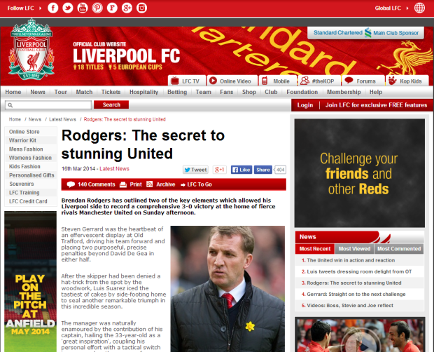 140317_Rodgers  The secret to stunning United   Liverpool FC
