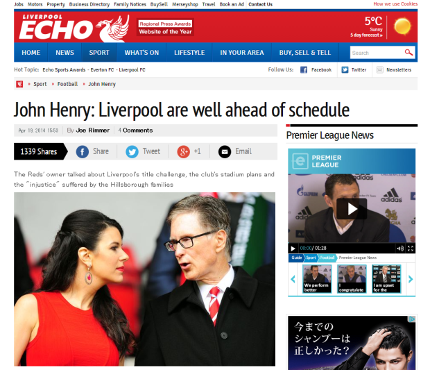 140420_John Henry  Liverpool FC are well ahead of schedule   Liverpool Echo