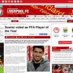 ルイス・スアレスがPFA年間最優秀選手賞を受賞