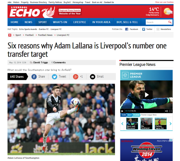 140513_Six reasons why Adam Lallana is Liverpool FC s number one transfer target   Liverpool Echo