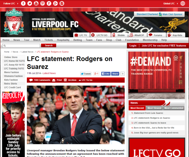140711_LFC statement  Rodgers on Suarez   Liverpool FC