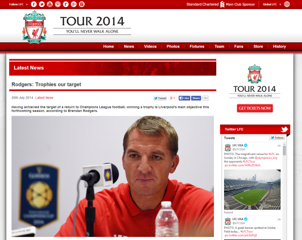 140727_Rodgers  Trophies our target   Liverpool FC