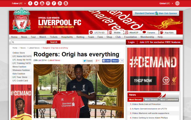 140729_Rodgers  Origi has everything   Liverpool FC