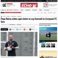 「ペペ・レイナによるリバプールサポーターへの別れの手紙」
