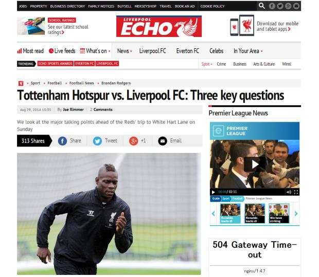 140829_Tottenham Hotspur vs. Liverpool FC  Three key questions   Liverpool Echo