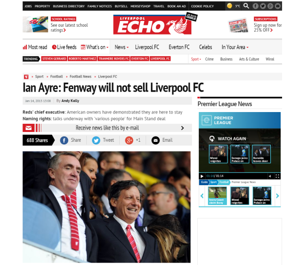 150115_Ian Ayre  Fenway will not sell Liverpool FC   Liverpool Echo