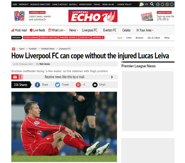 150209_How Liverpool FC can cope without the injured Lucas Leiva   Liverpool Echo