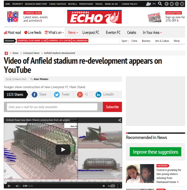 150314_Video of Anfield stadium re development appears on YouTube   Liverpool Echo