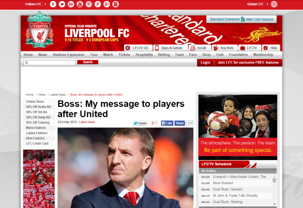150324_Boss  My message to players after United   Liverpool FC