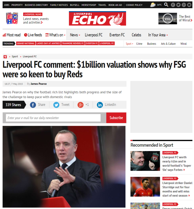 150508_Liverpool FC comment   1billion valuation shows why FSG were so keen to buy Reds   Liverpool Echo
