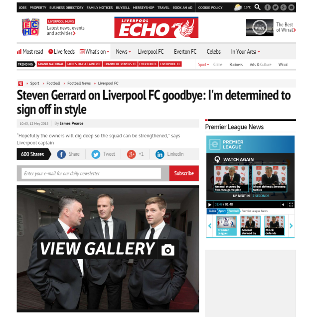 150512_Steven Gerrard on Liverpool FC goodbye  I m determined to sign off in style   Liverpool Echo