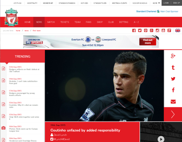 150920_Coutinho unfazed by added responsibility   Liverpool FC