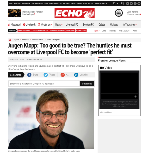 Jurgen Klopp  Too good to be true  The hurdles he must overcome at Liverpool FC to become  perfect fit    Liverpool Echo