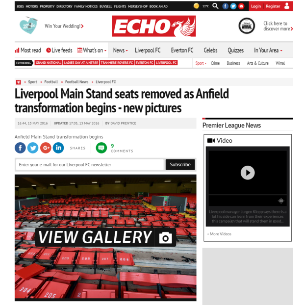 160514_Liverpool Main Stand seats removed as Anfield transformation begins   new pictures   Liverpool Echo