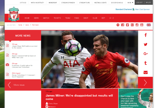 160828_James Milner  We re disappointed but results will come   Liverpool FC