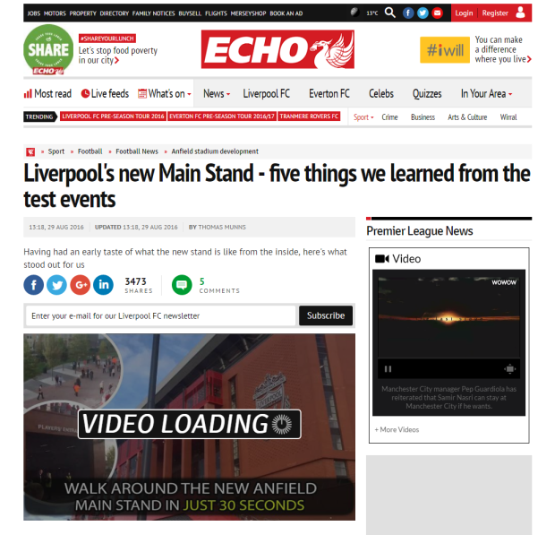 160830_Liverpool s new Main Stand   five things we learned from the test events   Liverpool Echo